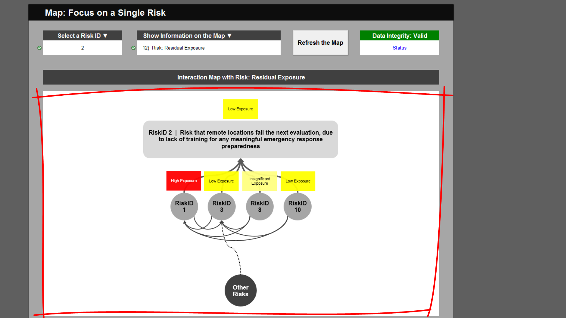 Risk Template in Excel Training • Interaction Maps Tab