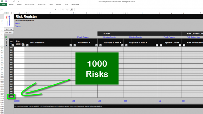 Risk Template in Excel with Risk Register: 1000 Preconfigured