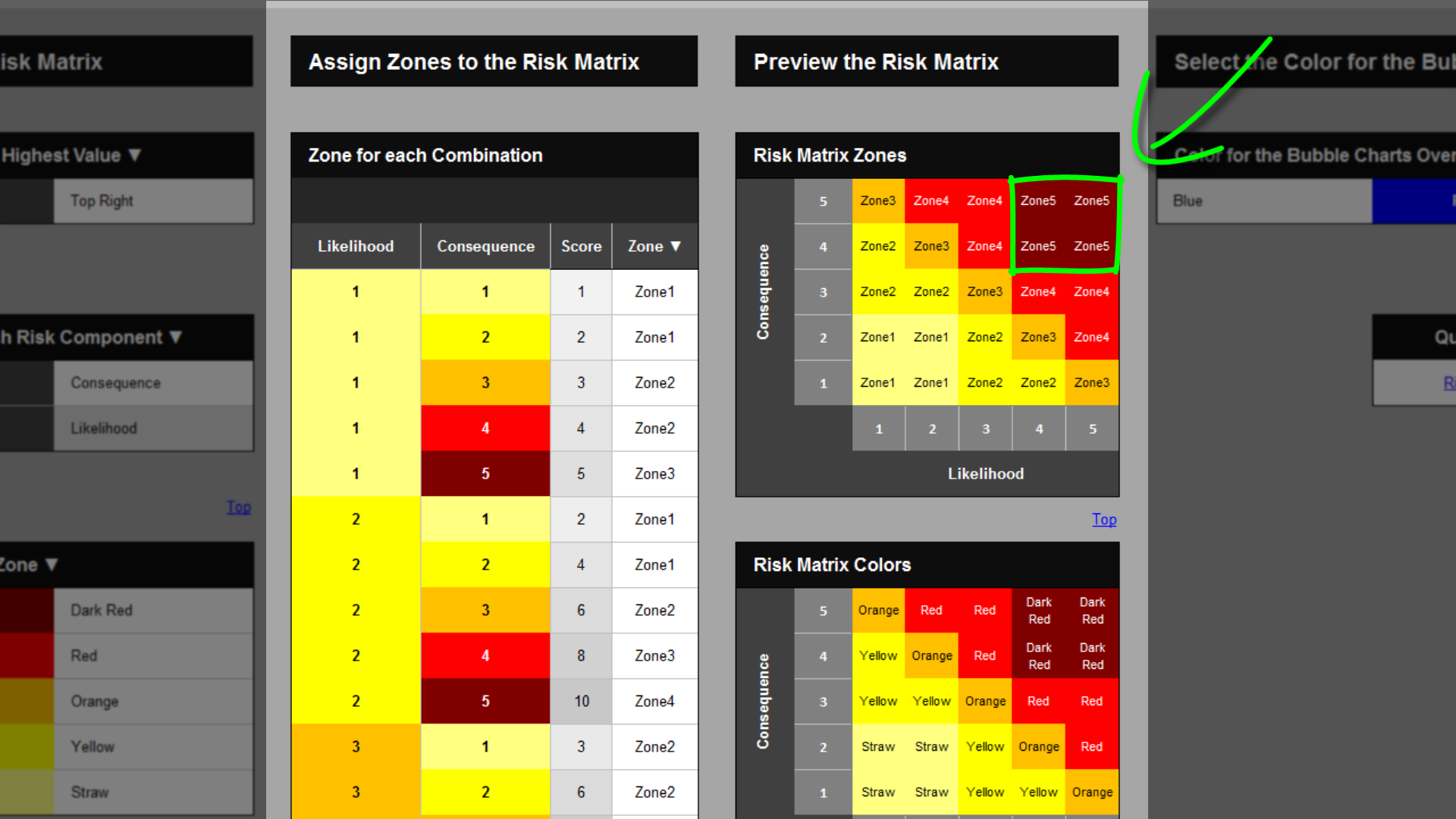 Risk template in excel training risk matrix change risk zones risk matrix zone 5 alramifo Images