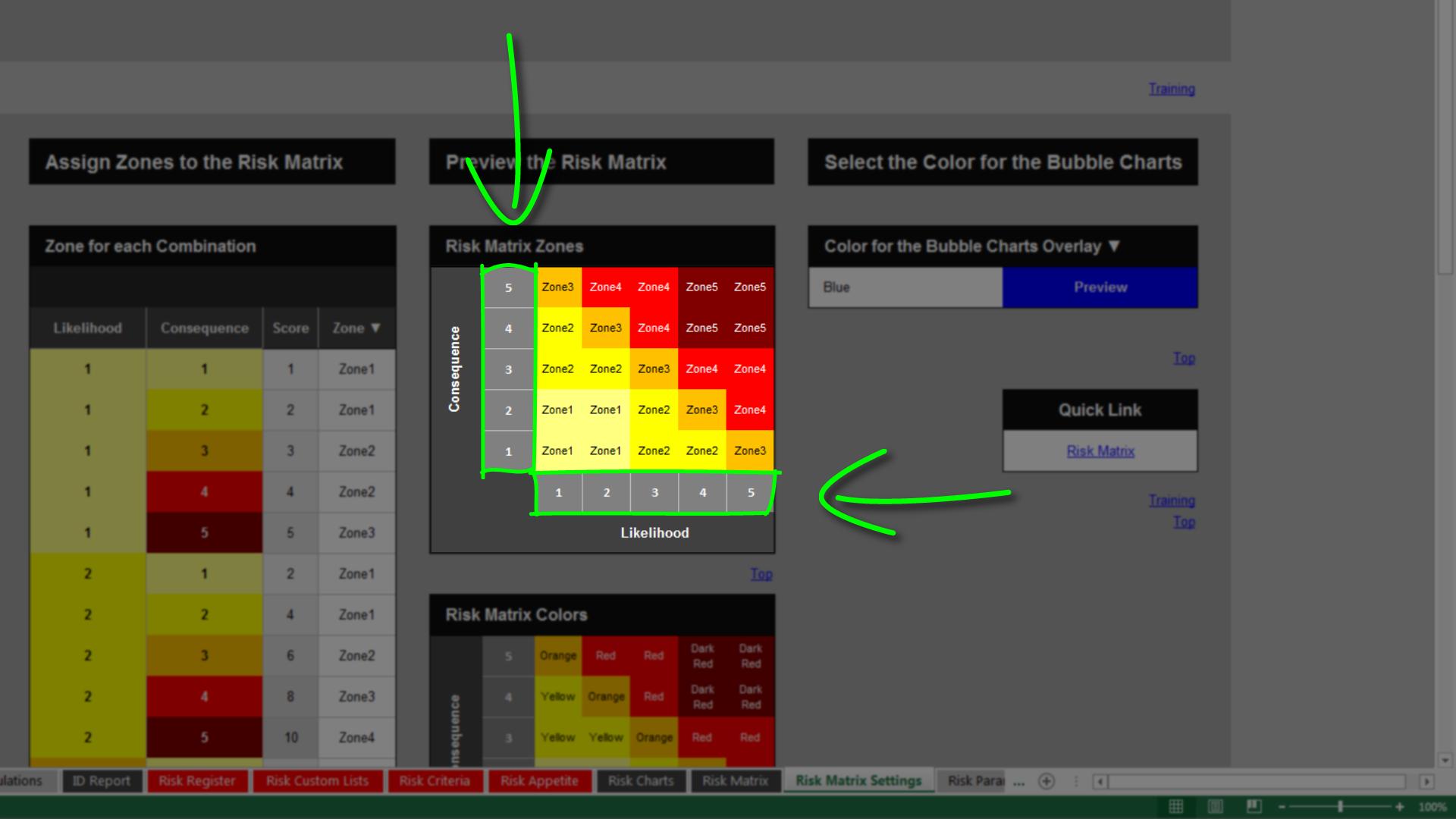 Matrix template Excel template for Matrix Chart or Matrix - mandegar ...