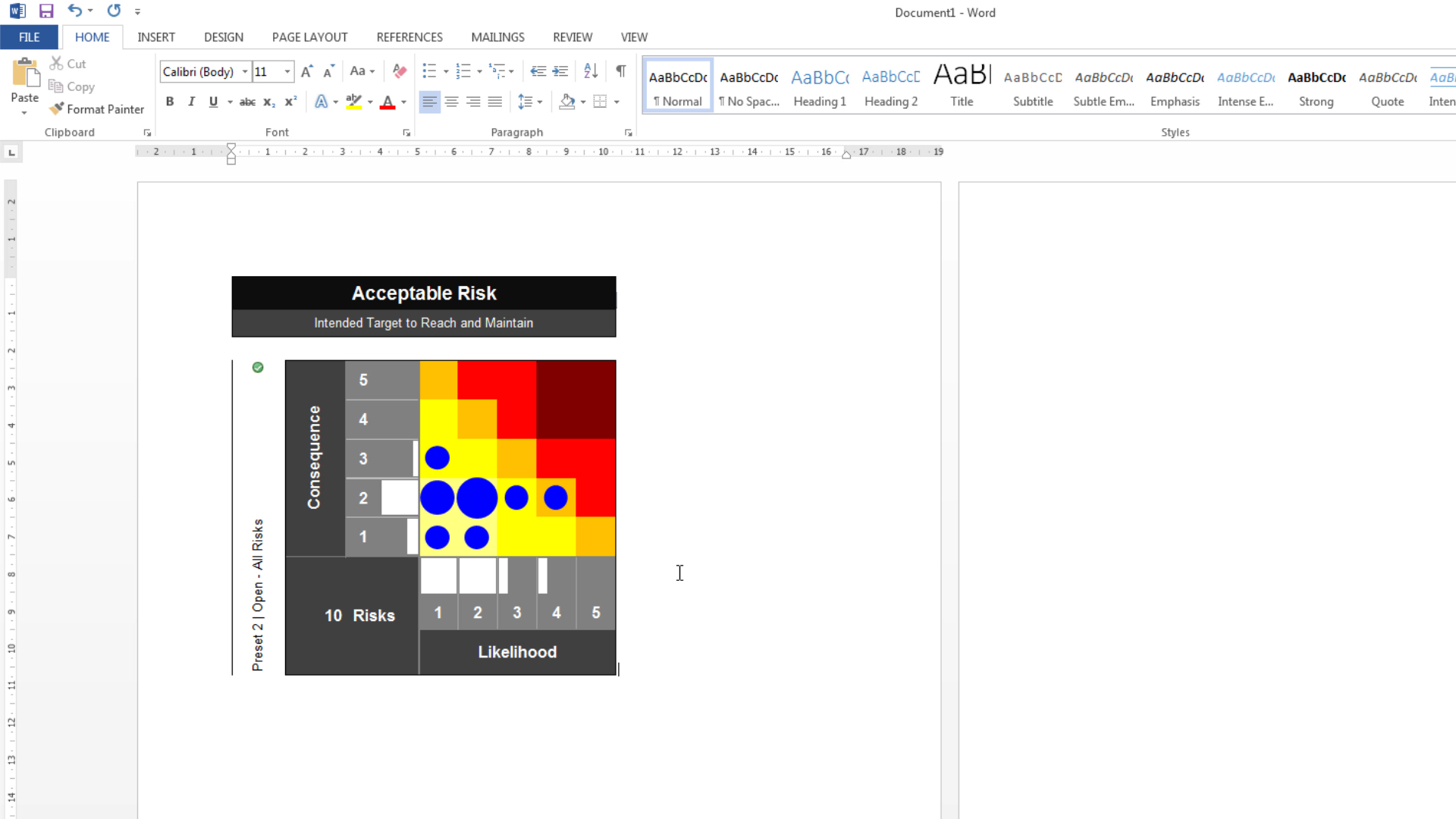 Risk Template in Excel Training • Overview: Risk Matrix Tab